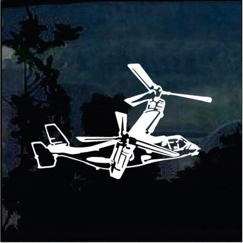 Osprey Helicopter Military Window Decal Stickers