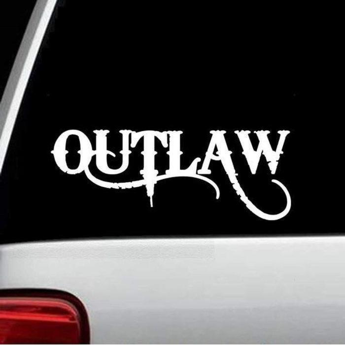 Outlaw Truck Decal Sticker