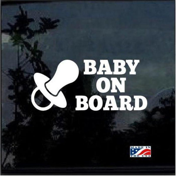 Pacifier – Baby on Board Sticker