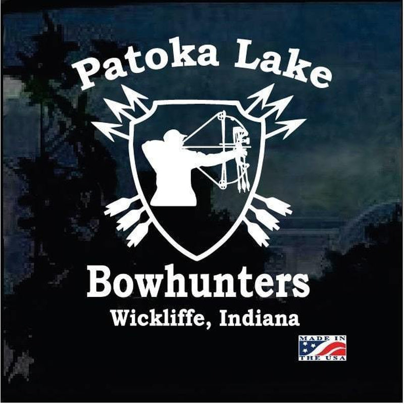 Patoka Lake Bowhunters Hunting Window Decal Sticker