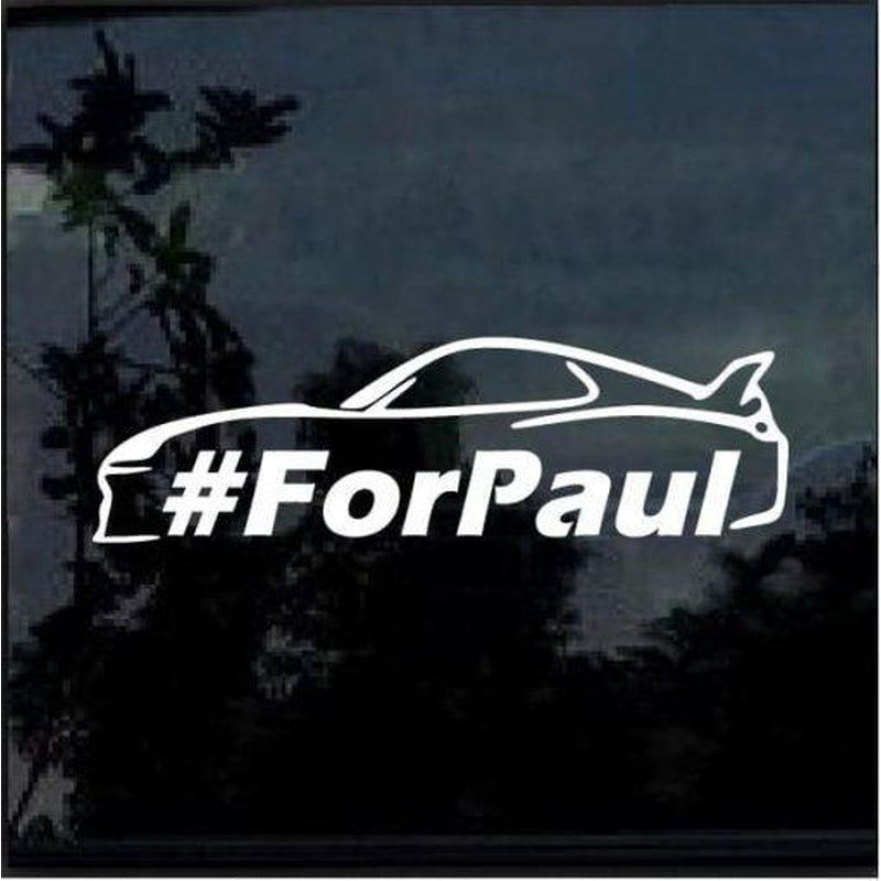 Paul Walker one last ride for paul JDM Car Window Decal Stickers