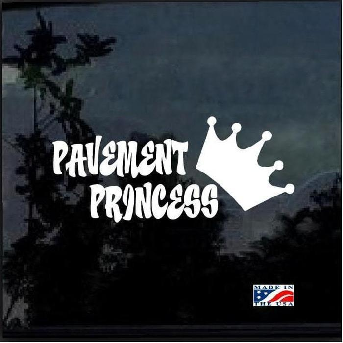 Pavement Princess Vinyl Truck Decal Sticker
