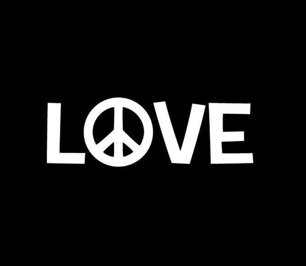 Peace Love Window Decal Sticker