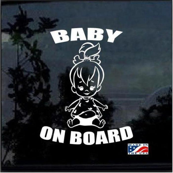 Pebbles Flinstones – Baby on Board Sticker
