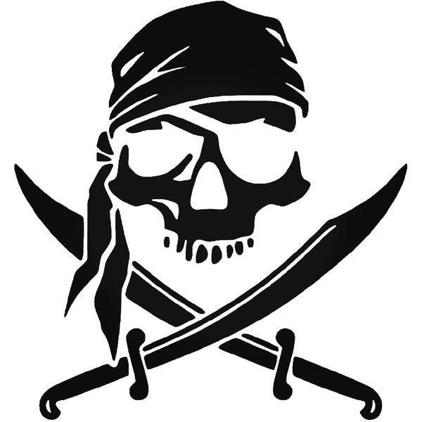 Pirate Skull Swords Decal Sticker