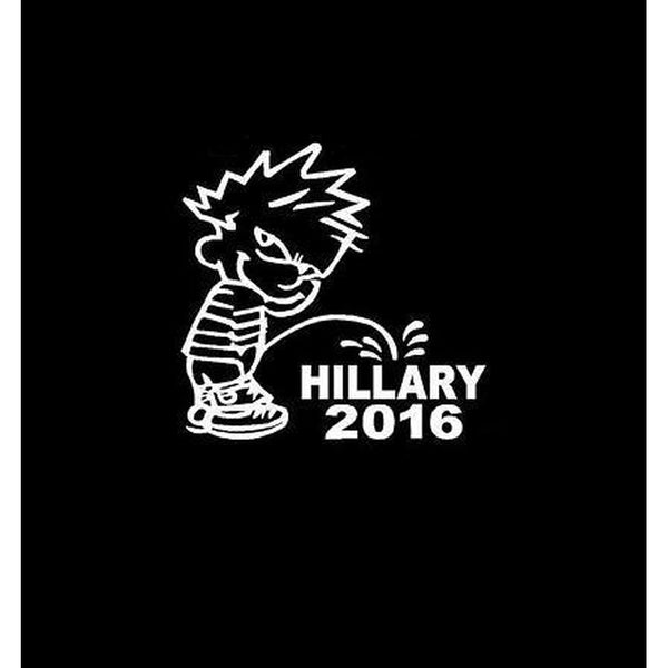 Piss on Hillary Clinton Decal Stickers a2