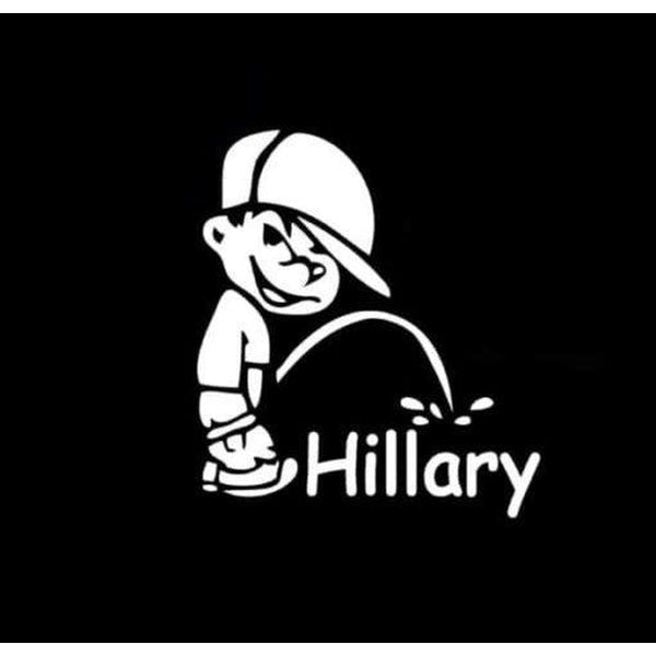 Piss on Hillary Clinton Window Decal Sticker