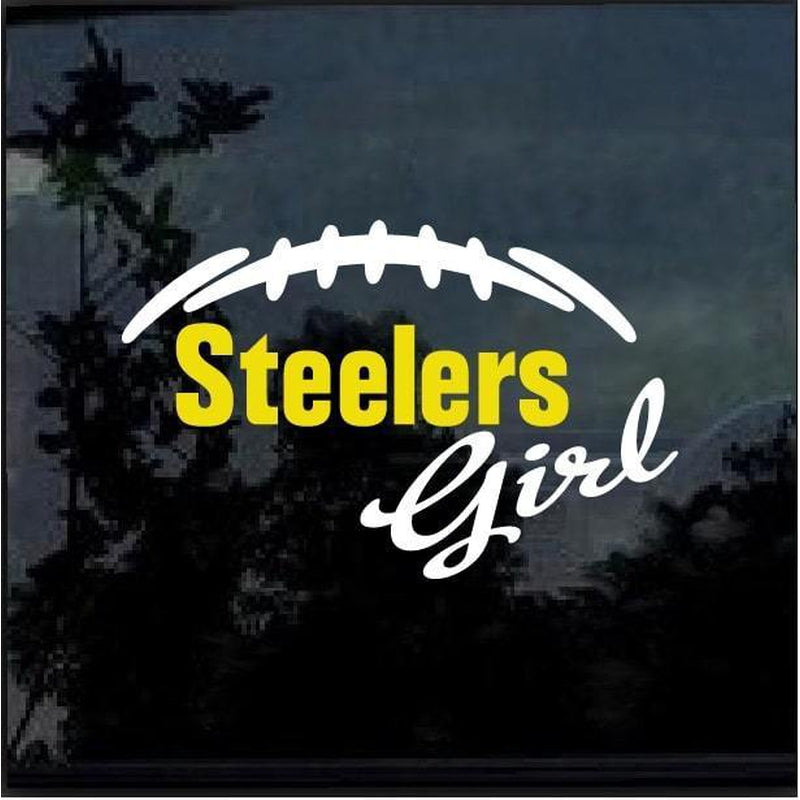 Pittsburgh Steelers Girl Window Decal Sticker