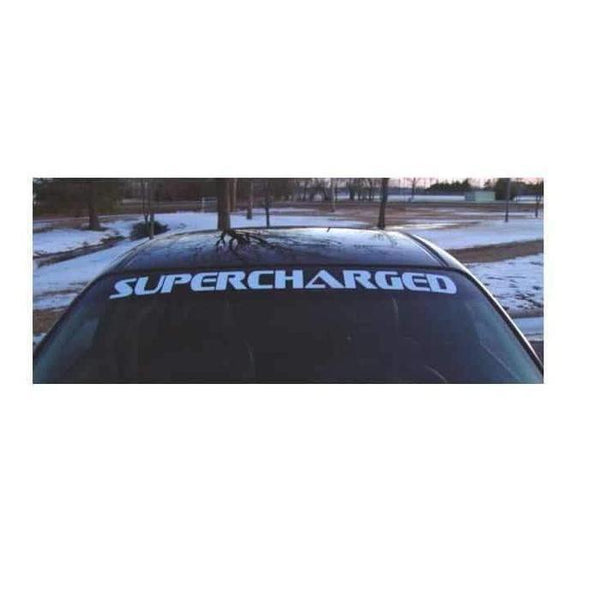 Pontiac Supercharged Windshield Banner Decal Sticker