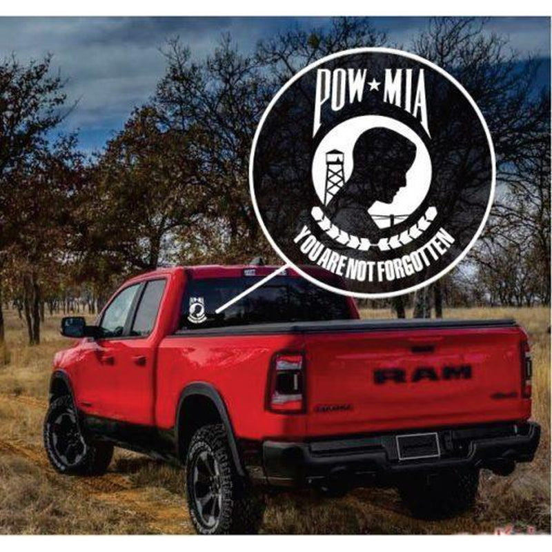 Pow MIA Military Window Decal Stickers