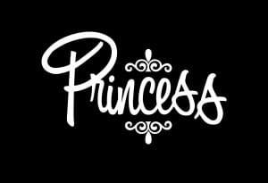 Princess II Window Decal Sticker