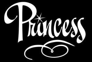 Princess Window Decal Sticker