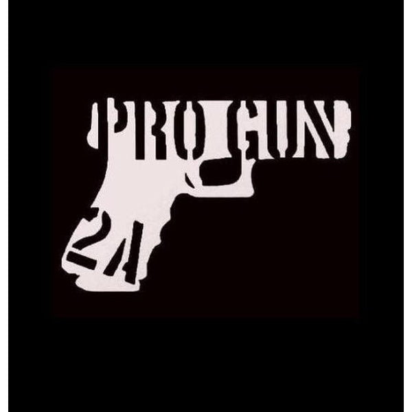 Pro Gun 2nd Amendment Window Decal Sticker