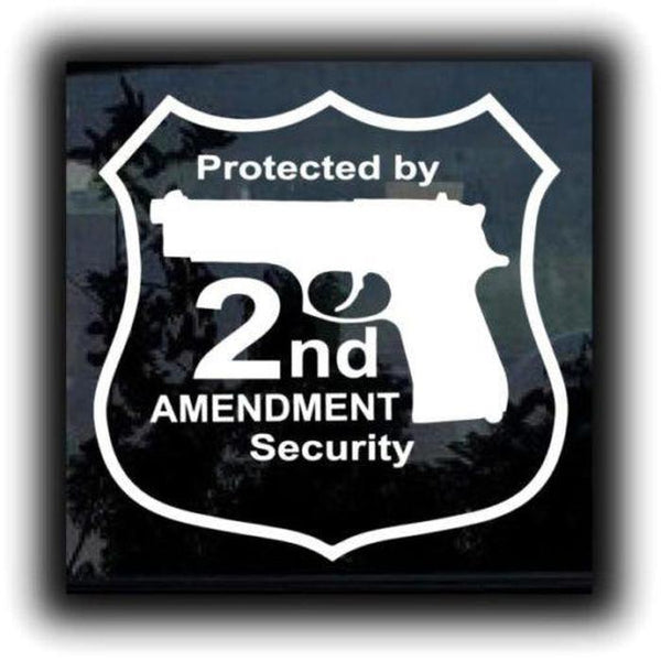 Protected by 2nd Amendment Decal Sticker