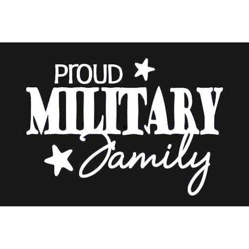 Proud family Military Window Decal Stickers