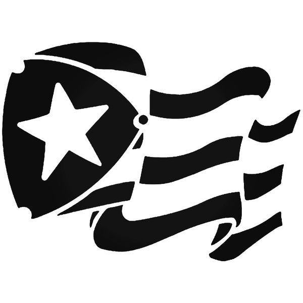 Puerto Rico Flag Decal Sticker