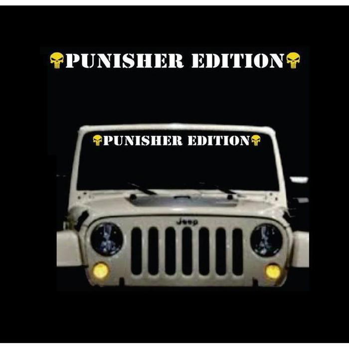 Punisher Skull Edition 2 Color A2 Windshield Banner Decal Sticker