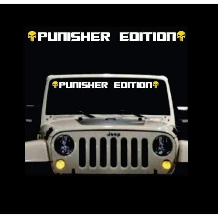 Punisher Skull Edition 2 Color Windshield Banner Decal Sticker