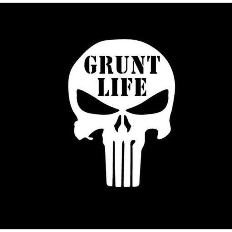 Punisher Skull Grunt Life Military Window Decal Stickers