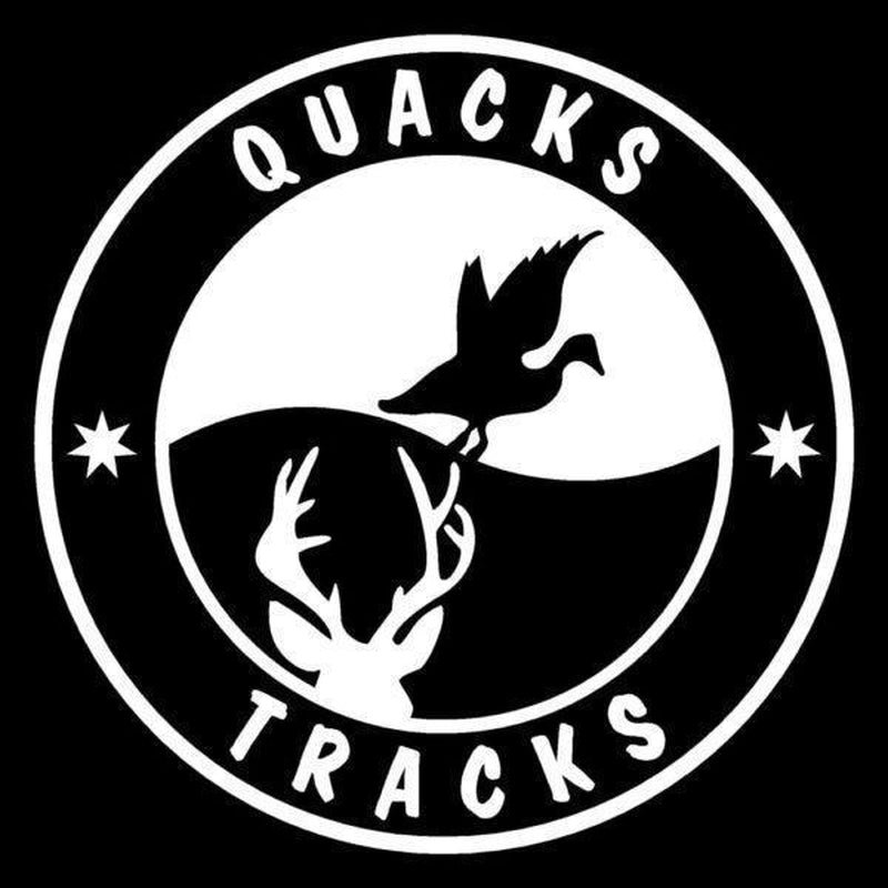 Quacks and Tracks Hunting Window Decal Sticker
