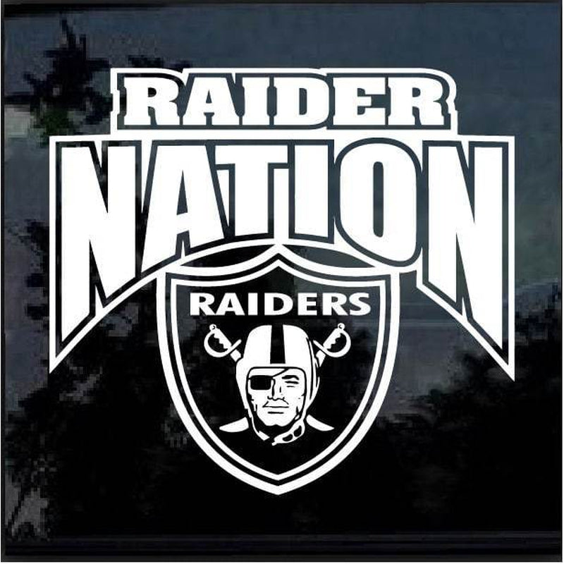 Raider Nation Oakland Raiders Window Decal Sticker