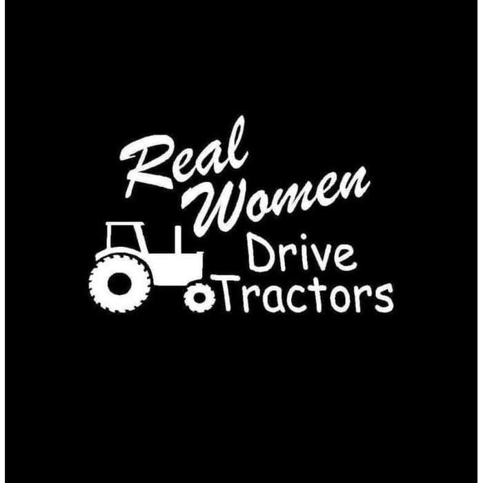 Real Women Drive Tractors Truck Decal Sticker