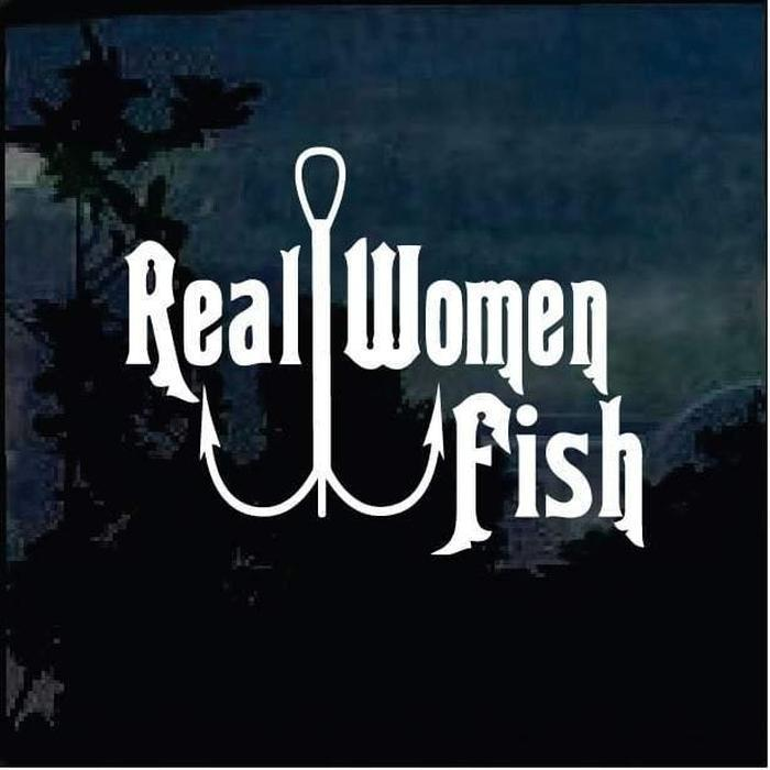 Real Women fish Fishing Decal Stickers