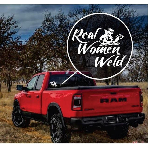 Real Women Weld Welding Welder Decal Sticker