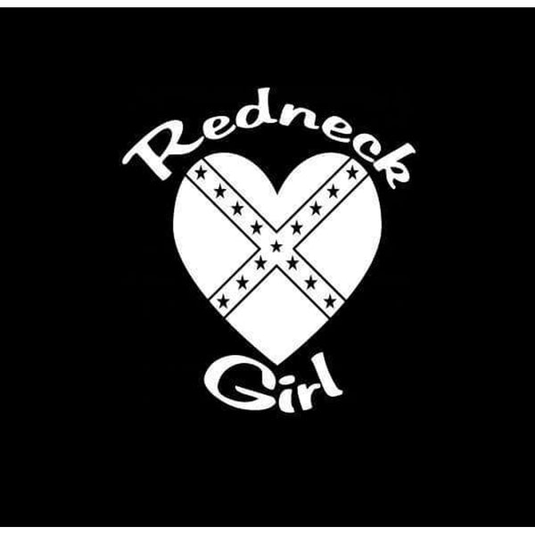 Redneck Girl Heart Vinly Truck Decal Sticker