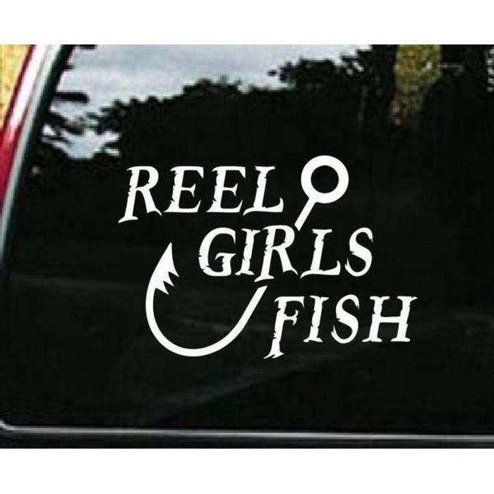 Reel Girls Fish Funny Fishing Decal Stickers