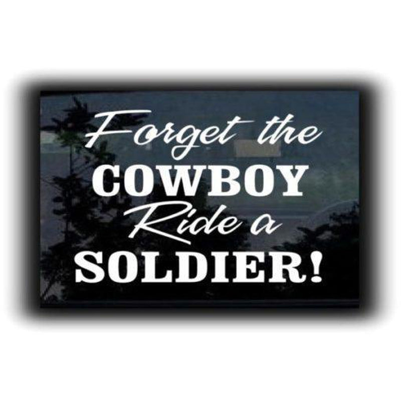 Ride a Soldier Military Window Decal Stickers