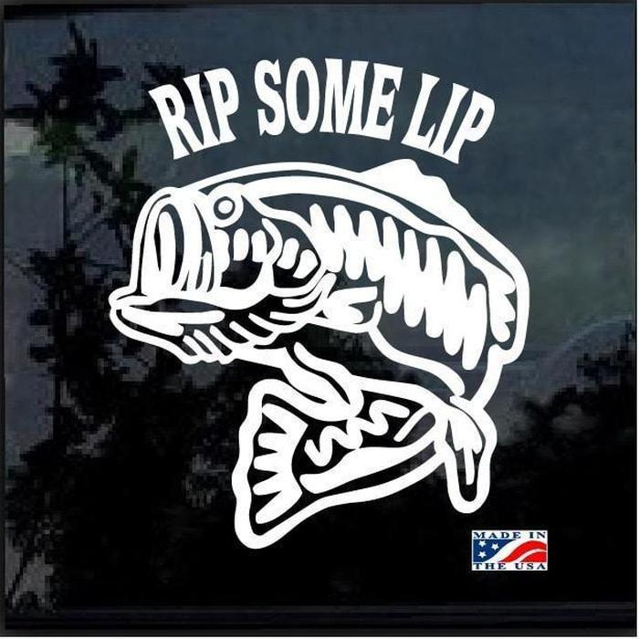Rip Some Lip Fishing Decal Stickers