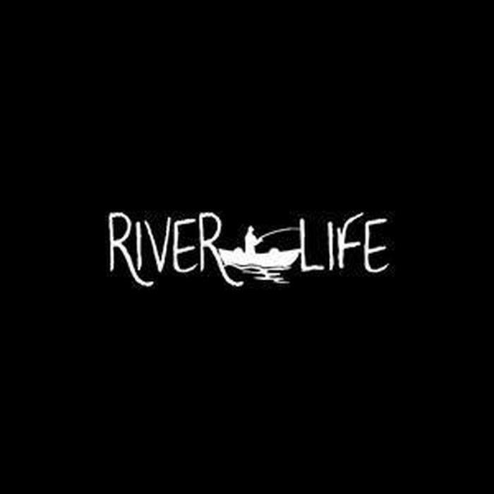 River Life a1 Fishing Decal Stickers