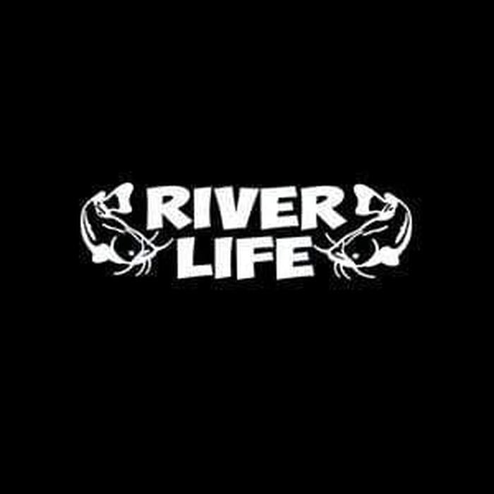 River Life a2 Fishing Decal Stickers