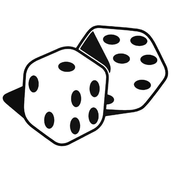 Rolling Dice Decal Sticker