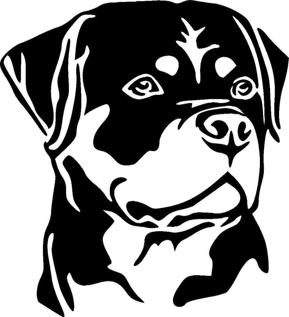 Rottweiler Face Decal Sticker for Cars
