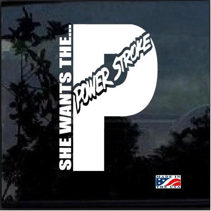 She wants the Powerstroke Truck Decal Sticker