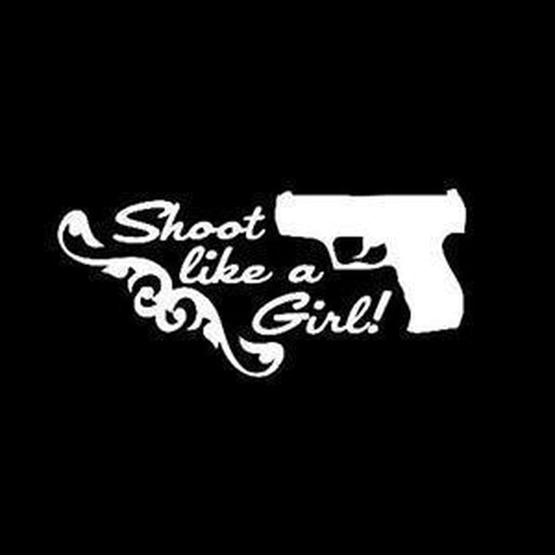 Shoot Like a Girl a5 Hunting Window Decal Sticker