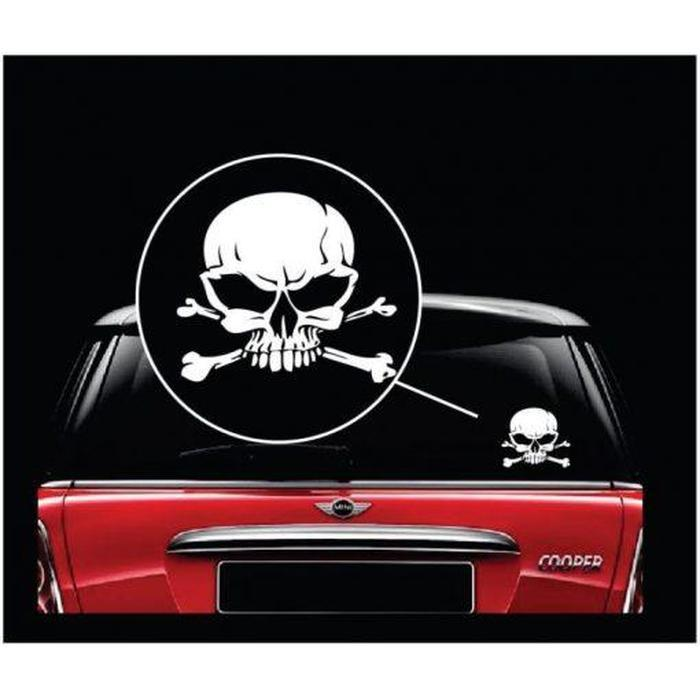 Skull and Cross Bones Window Decal Sticker A2
