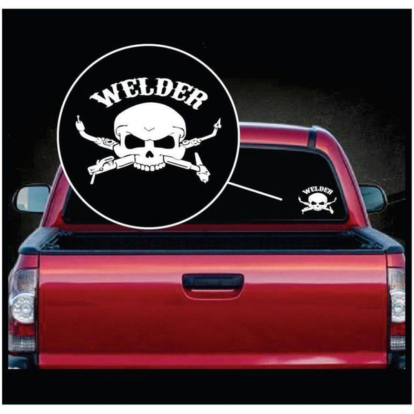 Skull Torch Spark Welding Welder Decal Sticker