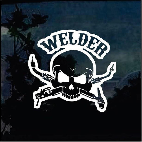 Skull Torch Welding Welder Decal Sticker