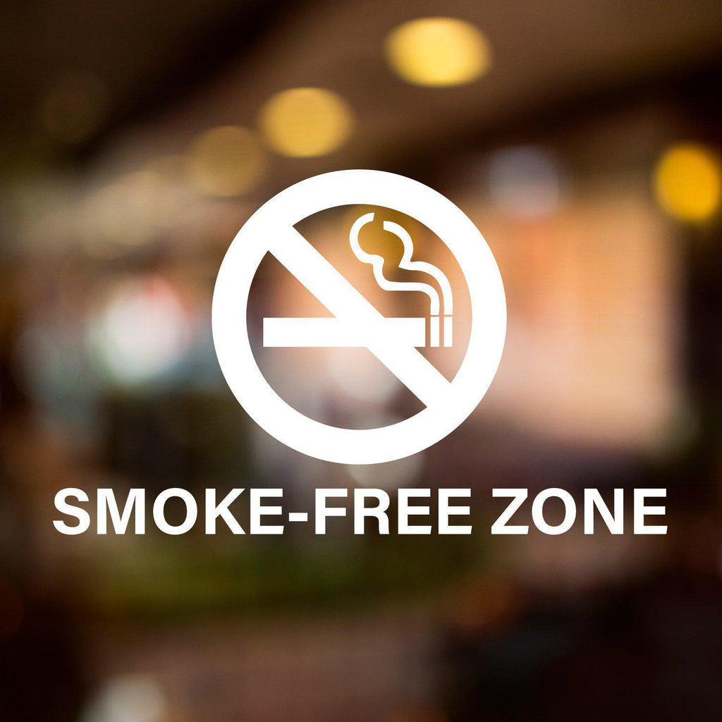 Vinyl Window Lettering Decal - Business - Smoke-Free Zone - #8020-StickerSquad