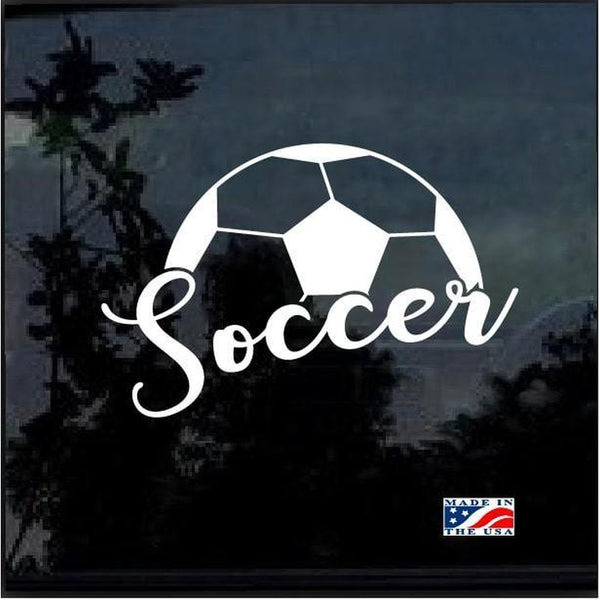 Soccer Ball Window Decal Sticker