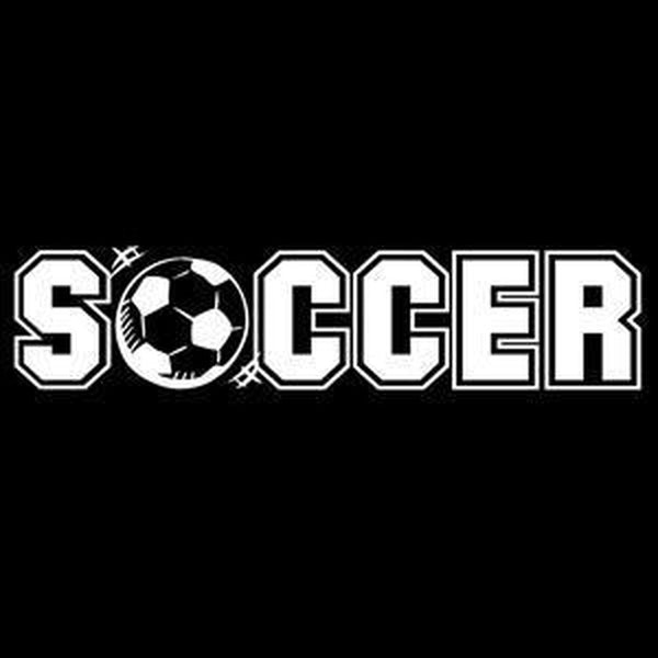 Soccer Window Decal Sticker A1
