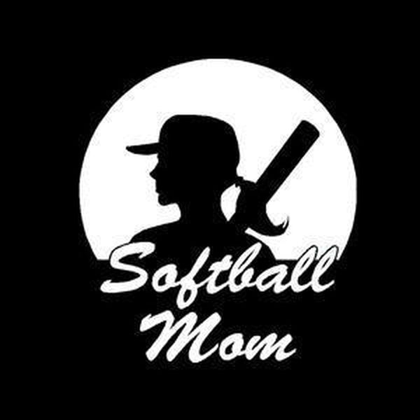 Softball Mom Window Decal Sticker A2