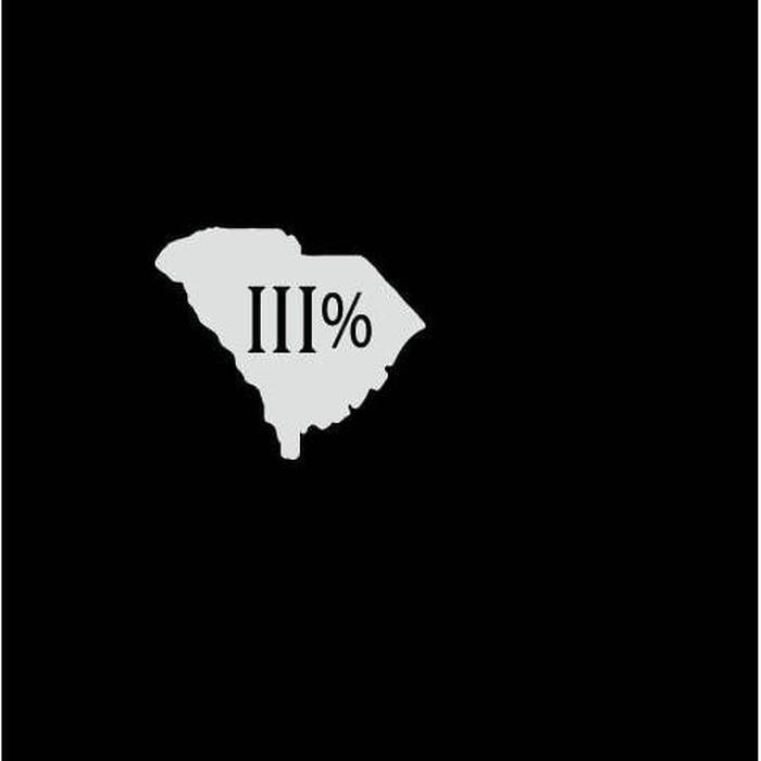 South Carolina III% 3 percenter Silhouette Truck Decal Sticker