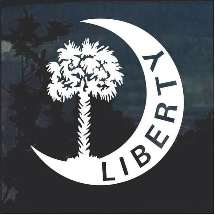 South Carolina Liberty Palm Tree Decal Sticker