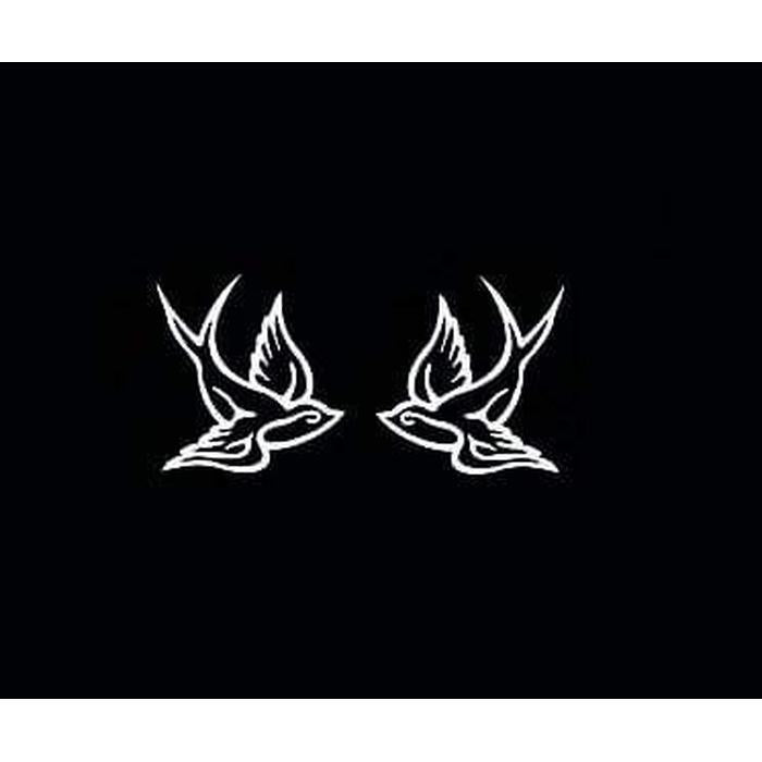 Sparrow Swallow bird set of 2 Window Decal Sticker