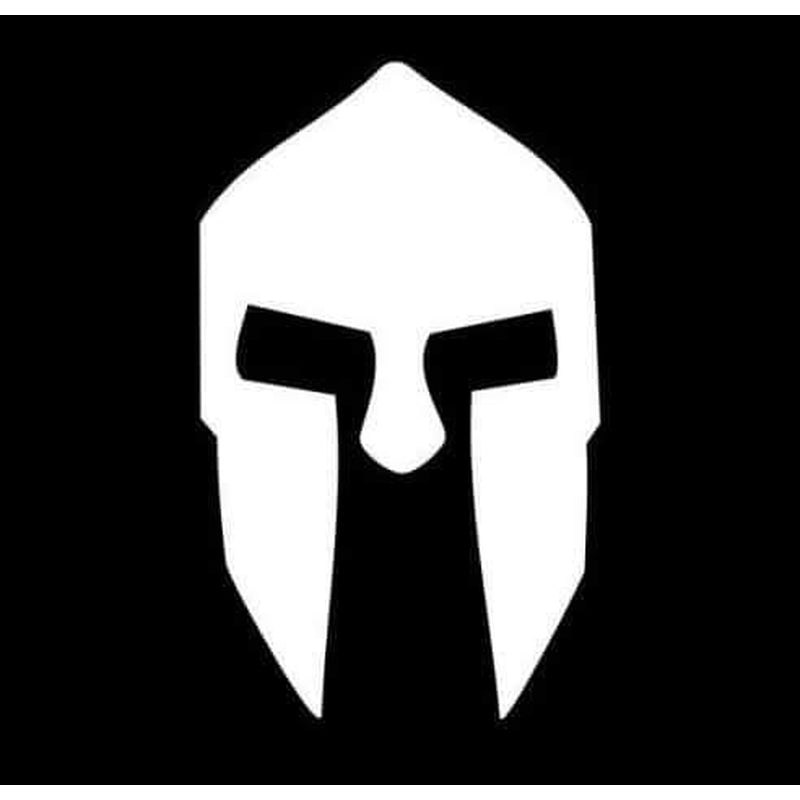 Spartan Leonidas Helmet Window Decal Sticker
