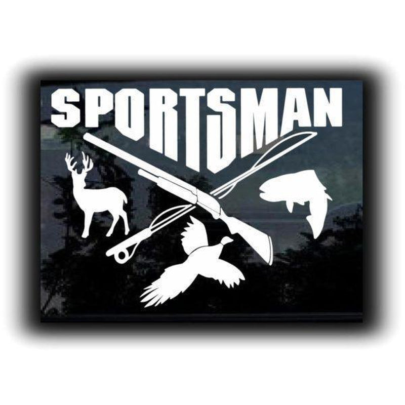 Sportsman Hunting Window Decal Sticker